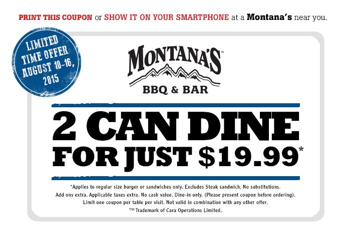 montanas coupon