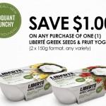 New Liberte Coupon for Liberte Greek Seeds & Fruit Yogurt