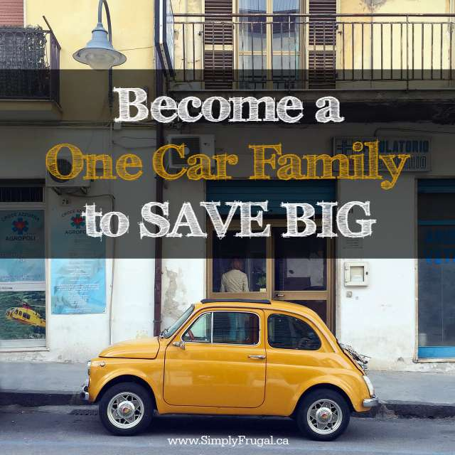 Become a one car family to Save Big! We're a one car family in the winter and I estimate we save at least $500. Imagine the savings if you were to do it year round!