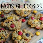 Fall M&M Monster Cookies