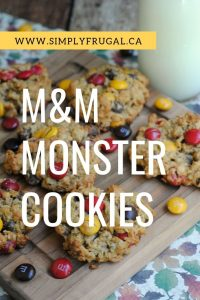 M&M Monster Cookies! They're easy to put together and delicious so they're sure to please!