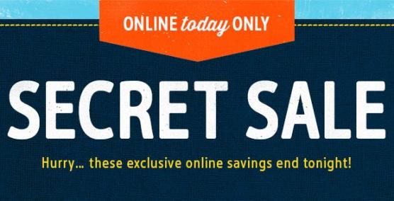 carters secret sale