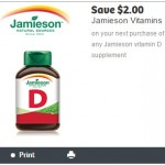 New Jamieson Coupon for $2 off Vitamin D