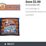 New Schneiders Weiners or Sausages Coupon for $1.00 off