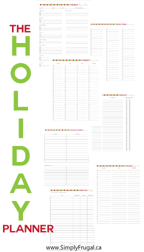 Are you tired of the holiday chaos? I came up with a holiday planner that will help keep me and you on track and in charge of our holidays, instead of the holidays taking charge of us!