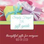 The 2015 Simply Frugal Gift Guide is Here!
