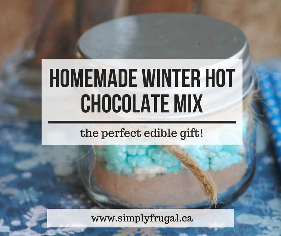Homemade Hot Chocolate Mix #giftidea #homemade #edible #ediblegift