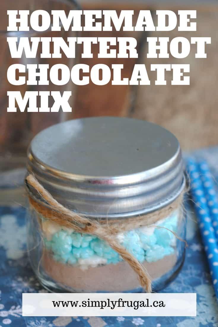 Homemade Winter Hot Chocolate Mix #giftidea #homemade #edible #ediblegift
