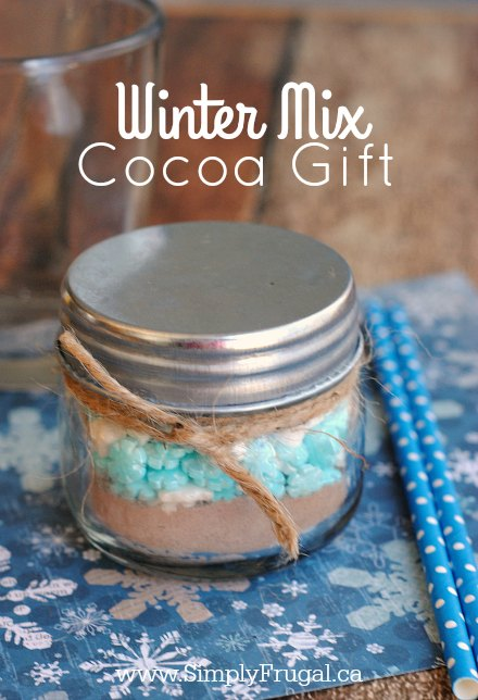 This Winter Mix Cocoa Gift is the perfect, simple, consumable gift for the hot chocolate lover on your Christmas list!