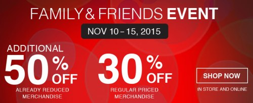 Bench.ca Friends & Family Sale: Save 50% off