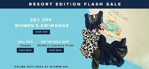 Hudson's Bay Flash Sale: 30% off Dresses, 25% off Swimwear and More