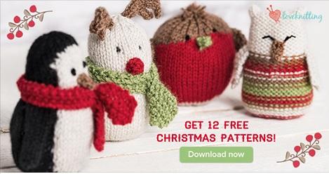 12 Free Christmas Knitting Patterns