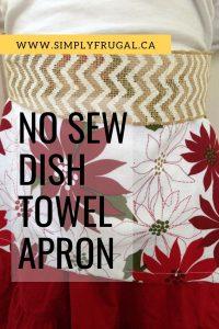 No Sew Dish Towel Apron