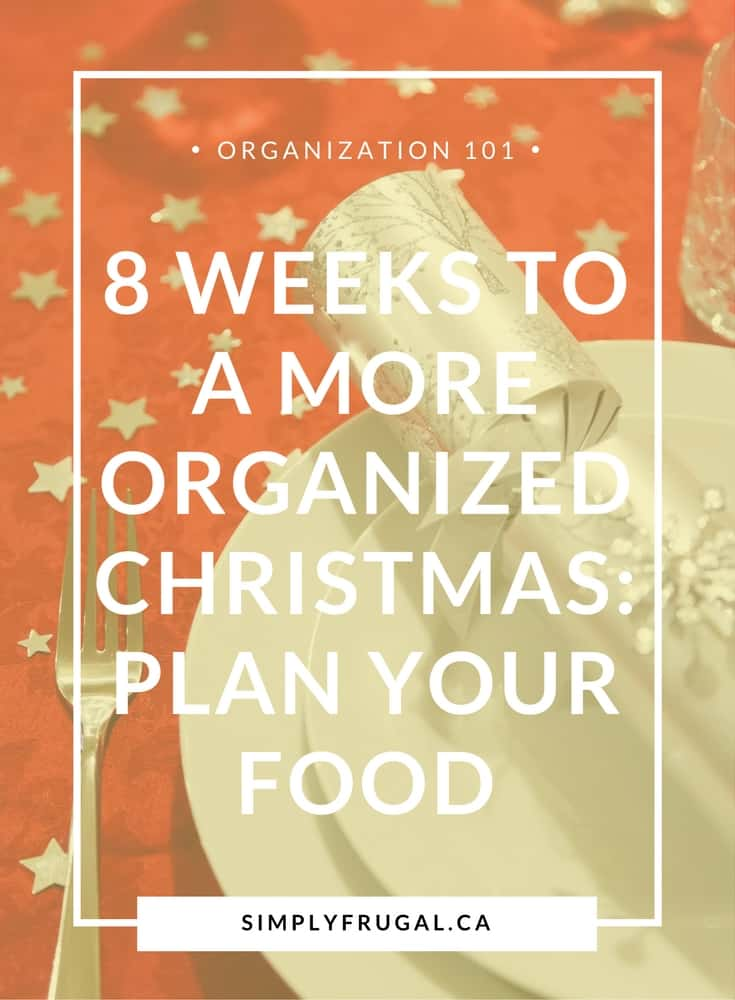 8 Weeks to a More Organized Christmas: Plan your Food