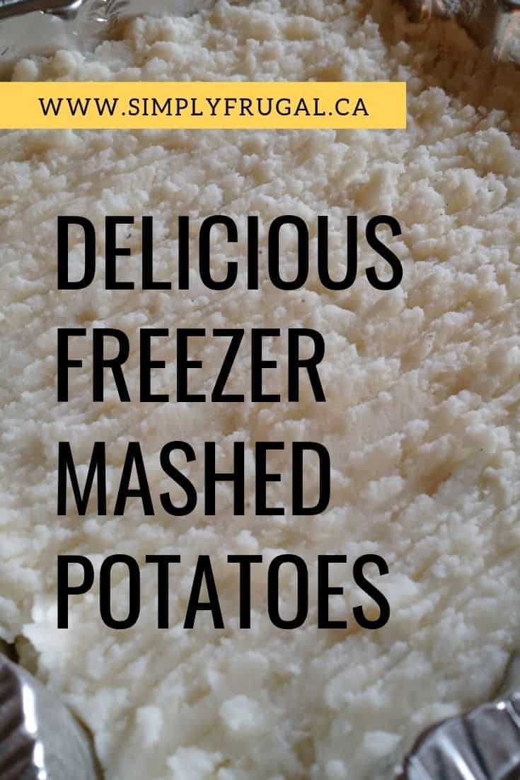 You have got to try these delicious freezer mashed potatoes! They are so so good!