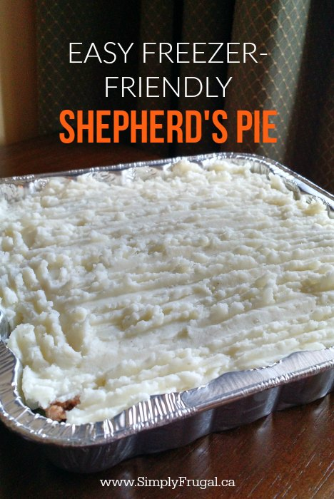 Now this is a recipe to bookmark! This easy freezer friendly Shepherd's Pie is a delicious mix of potatoes, veggies and meat smothered in gravy.