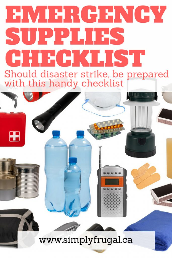 Should disaster strike, be prepared with this handy emergency supplies checklist.