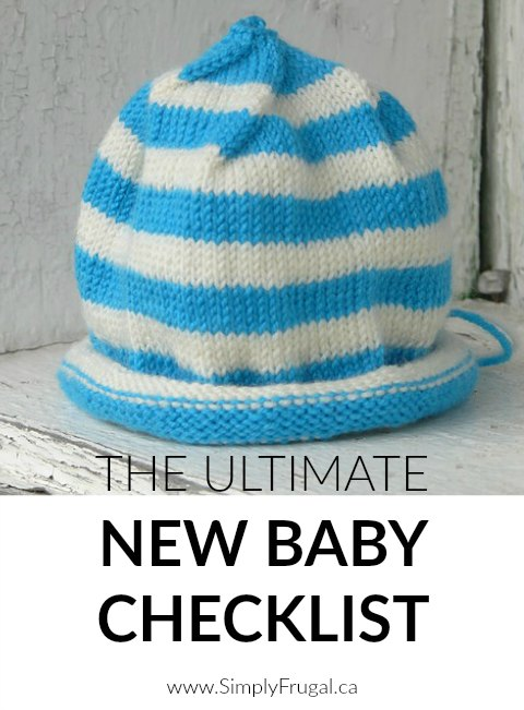 This Ultimate New Baby Checklist is perfect for knowing all the must-have items you'll want in place before your new bundle of joy arrives! Very handy!