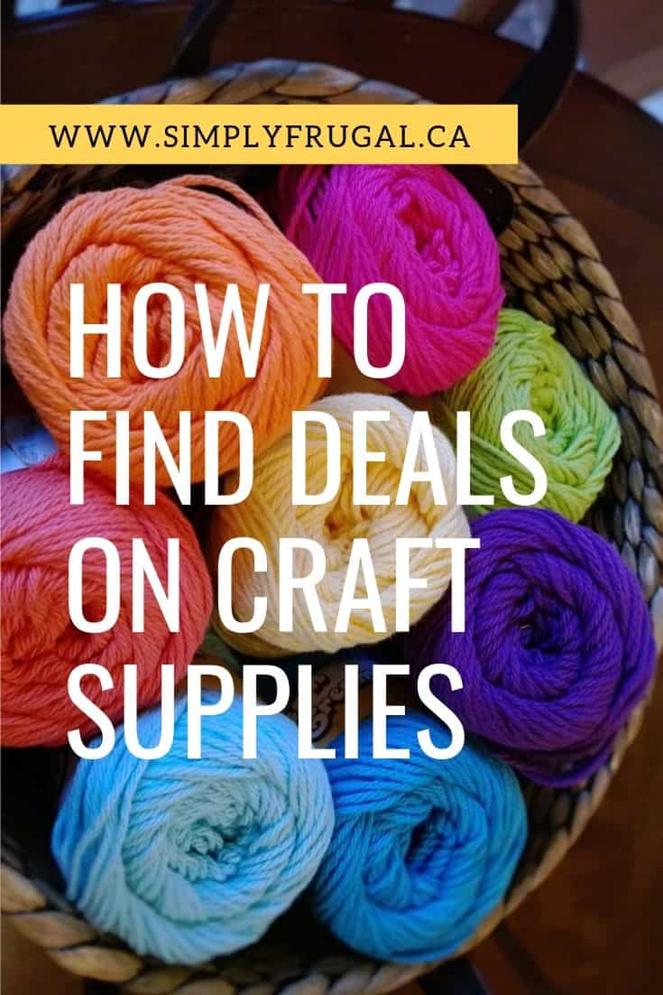 Take a look at these tips on how to find the best deals on craft supplies so you can continue to let your creativity flourish.