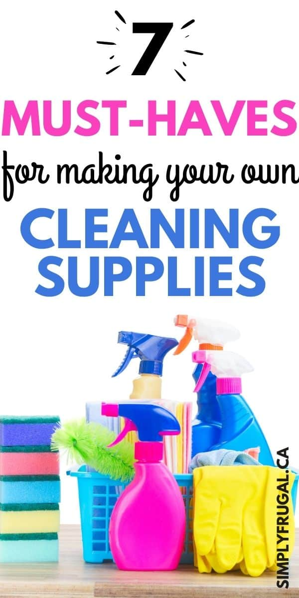 If you want to start experimenting with making your own cleaning supplies, but don't know where to begin, take a peek at these 7 must haves for making your own cleaning supplies!
