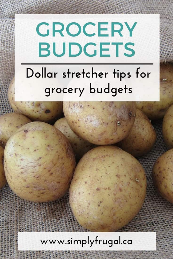 Dollar Stretcher Tips for Grocery Budgets. These are great ways to make simple grocery items go further, therefore saving you money on your grocery bill. #grocerytips #budgettips #grocerybudget #frugalliving #simplyfrugal