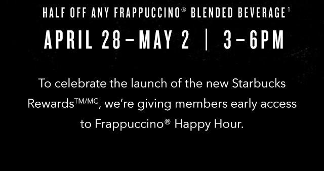 frappucinno happy hour