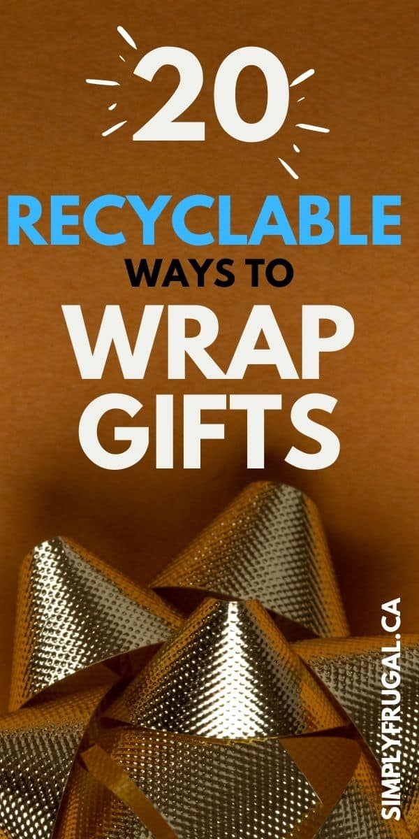 There are plenty ofrecyclable materials around that make crafting your own gift wrap easy with barely any cost. Take a look at these recyclable ways to wrap gifts.