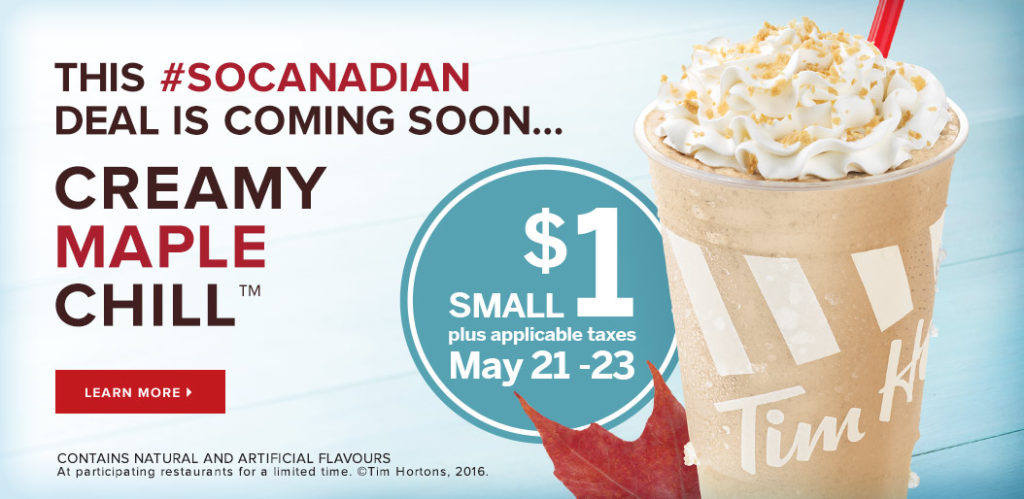 Maple Chill_tim hortons