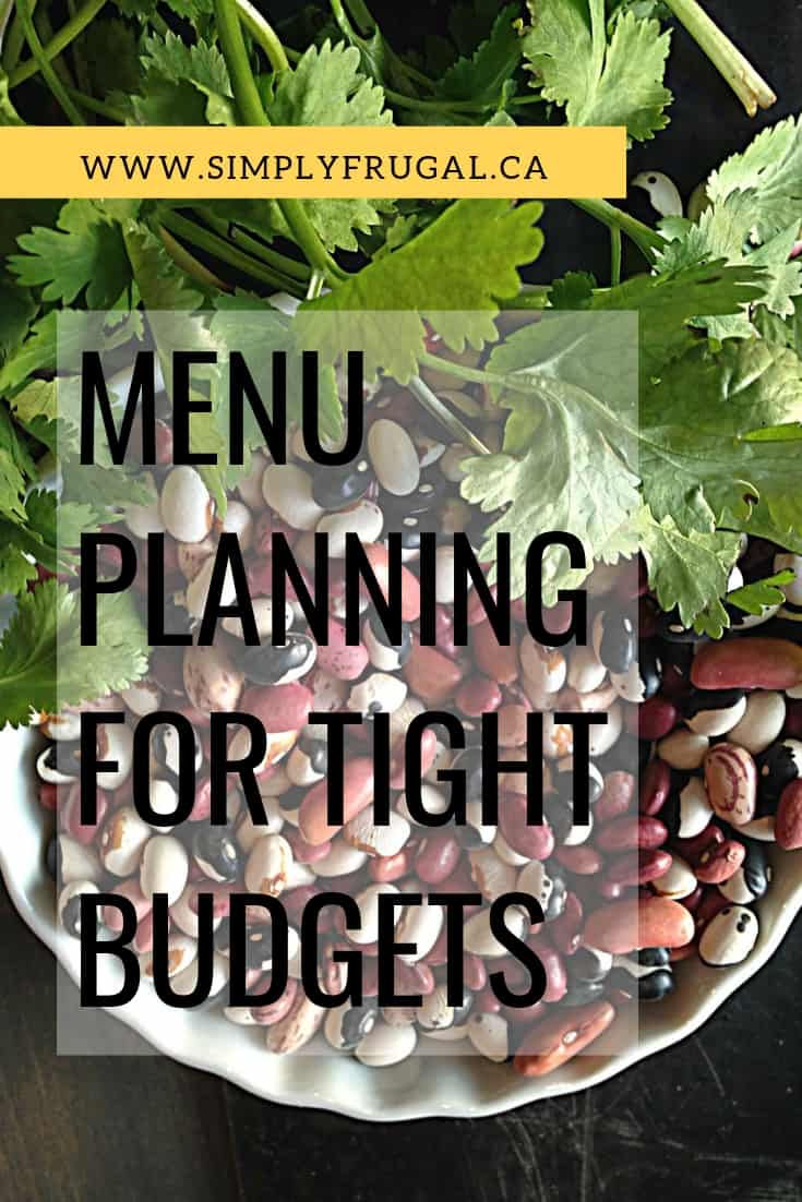 You've got to check out these top tips for Menu Planning on a tight budget to give your family amazing meals while easily saving money! #menuplanning #mealplanning #tightbudget #budgetingtips