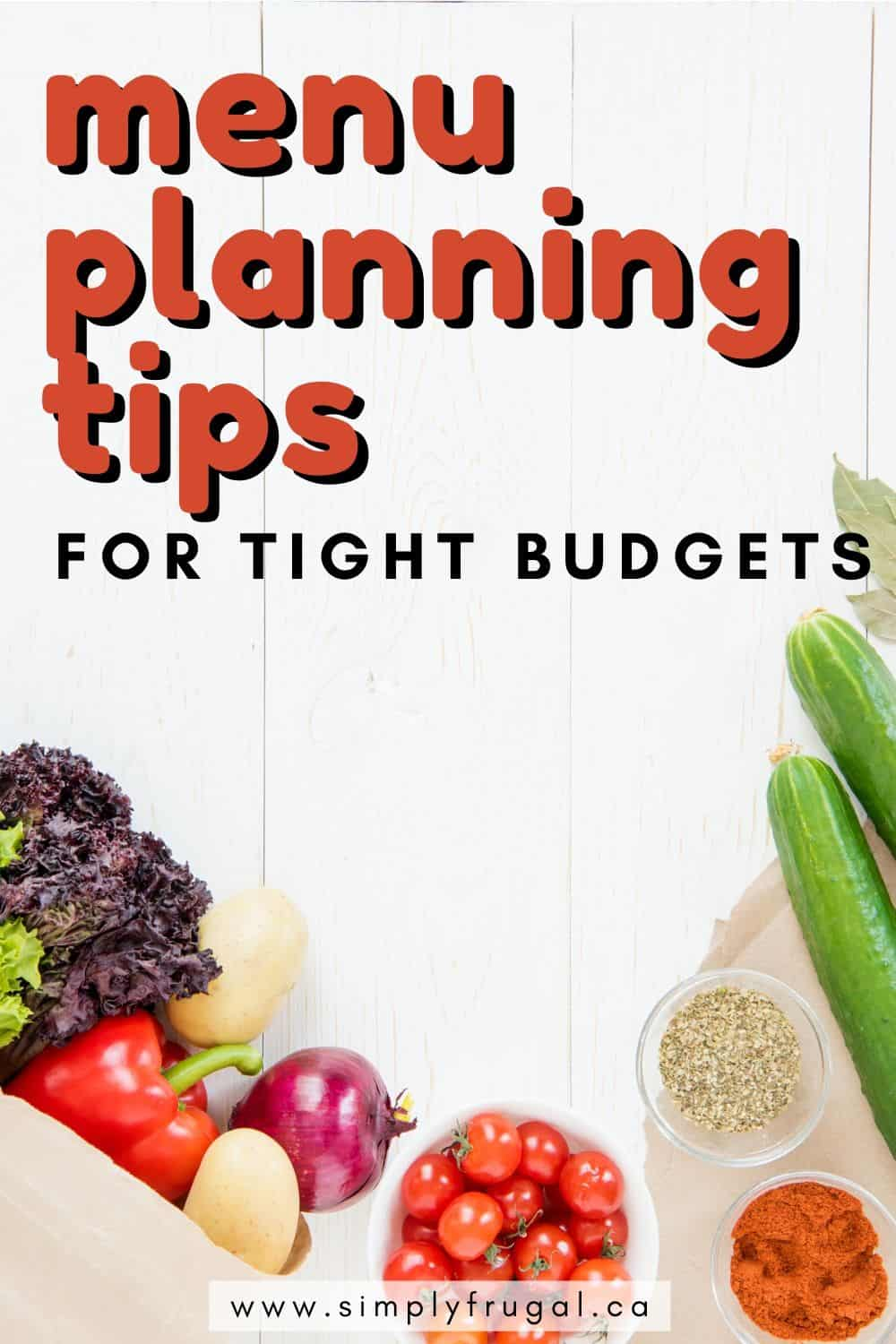 Menu planning tips for tight budgets