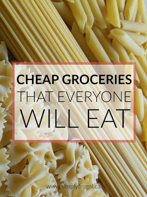 Don't miss these top 5 Cheap Groceries that Everyone Will Eat! This list includes items everyone in the family will eat that easily fit into your budget.