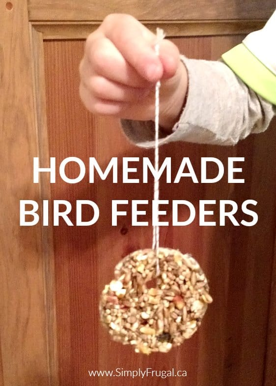 You will have so much fun putting these simple Homemade Bird Feeders together!