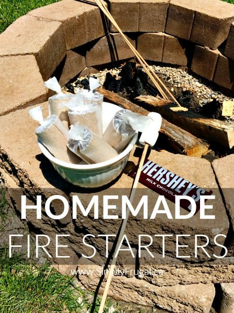 Get your summer fun underway with these easy homemade fire starters using items you have on hand already! Perfect for the backyard bonfire or the weekend campfire!