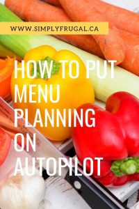You know planning a menu is a good thing, but sometimes it only feels like another chore to cross off the to-do list. Well, end that once and for all by putting your menu planning on autopilot!