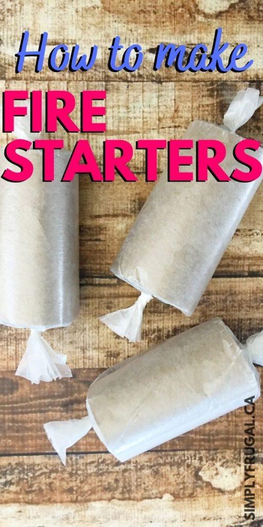 how to make homemade fire starters
