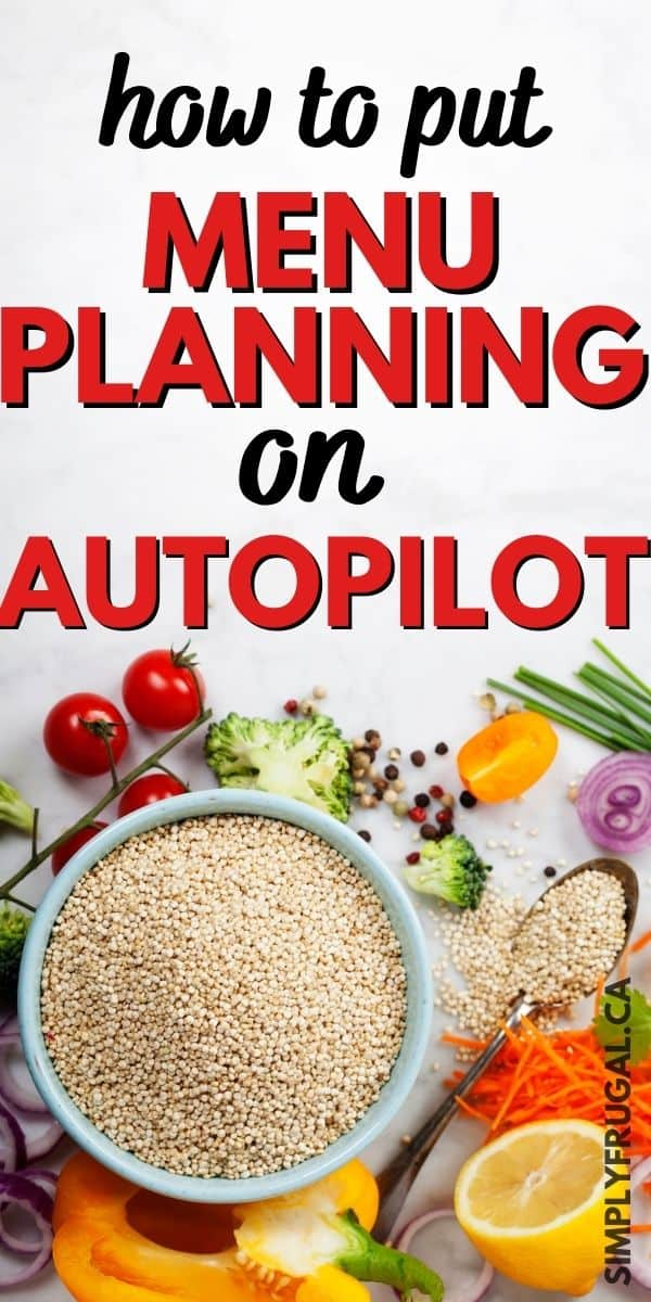 Menu planning on autopilot. How to create a rotating menu plan.