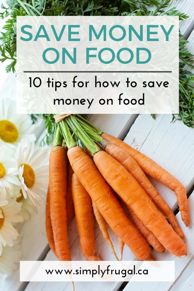 There are some expenses that just aren't going to go away, and food is one of them. This list of ideas will help make your grocery budget go further. #grocerytips #grocerybudget #simplyfrugal #budgetmeals