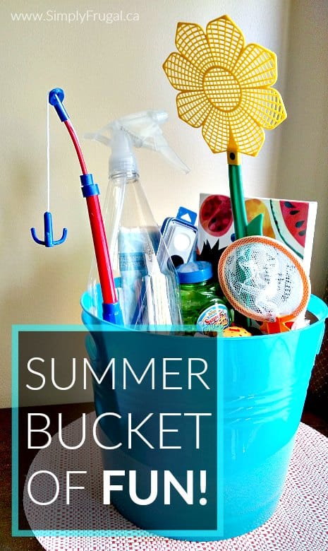 The Summer Bucket of FUN! ebook includes over 20 activities with thorough instructions, printables and a supply list so you can easily eliminate summertime boredom. So much fun in one bucket!
