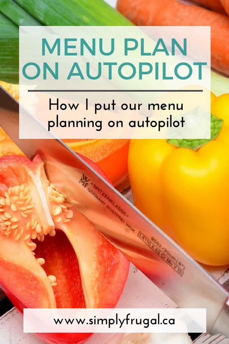 How I put Menu Planning on Autopilot. Menu Planning Tips.
