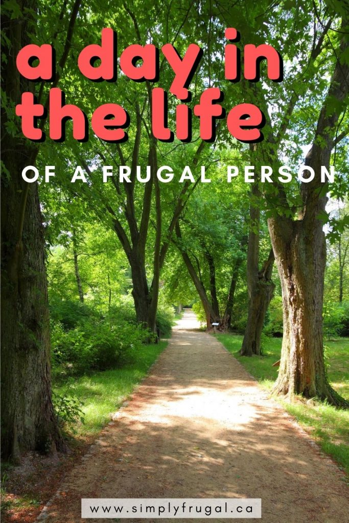 Take a look at a Day in the Life of a frugal person! There are always some great money saving tips to learn! #moneysavingtips #frugalliving #budget #pennypinching