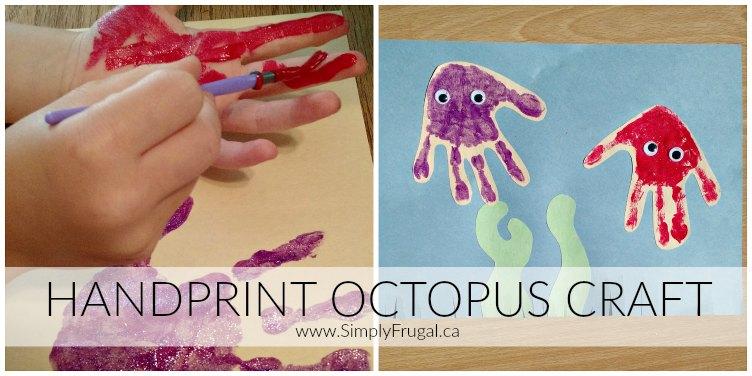 Handprint Octopus Craft 2