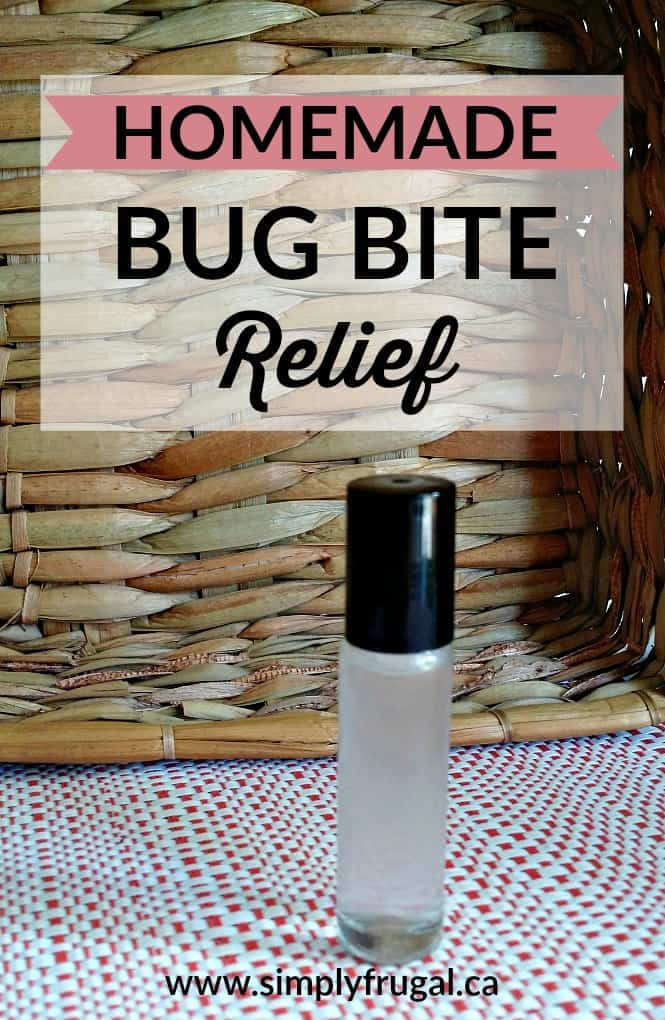 This three ingredient homemade Bug Bite Relief is perfect for calming and cooling pesky bug bites. Give this a try next time you or your kids are scratching those bites like crazy.