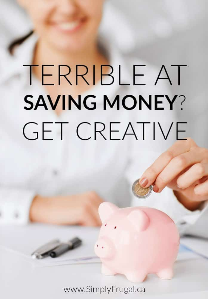 Unfortunately, the fast majority of people in the world are terrible at saving money. Have no fear because even if you are terrible at saving money, there are small ways you can get creative in order to start saving!