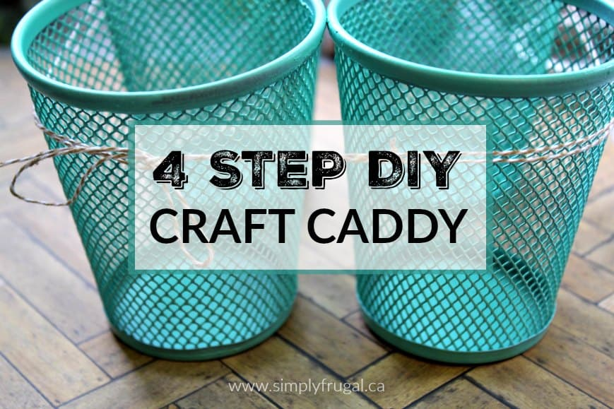 I love this dollar store DIY craft caddy and it's such an easy project to put together! You could whip it up in no time and paint it in any color to suit your taste.