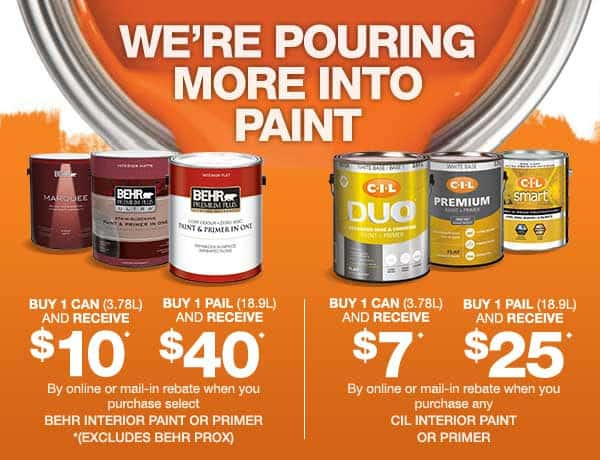 the home depot save up to 40 on behr and cil paint