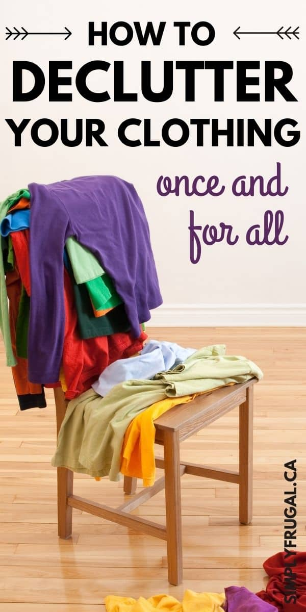 Doing a clothing declutter can be one of the hardest decluttering tasks out there. Here's how to pare down your clothing once and for all!