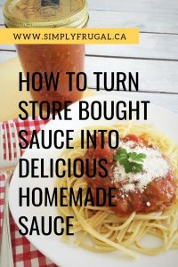 Expecting company for dinner? Impress your guests and be a kitchen superstar by turning store bought pasta sauce into homemade sauce in 5 easy steps!