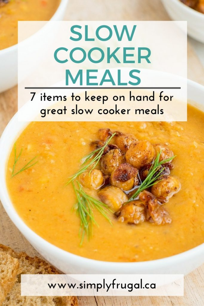 7 items to keep on hand for slow cooker meals
