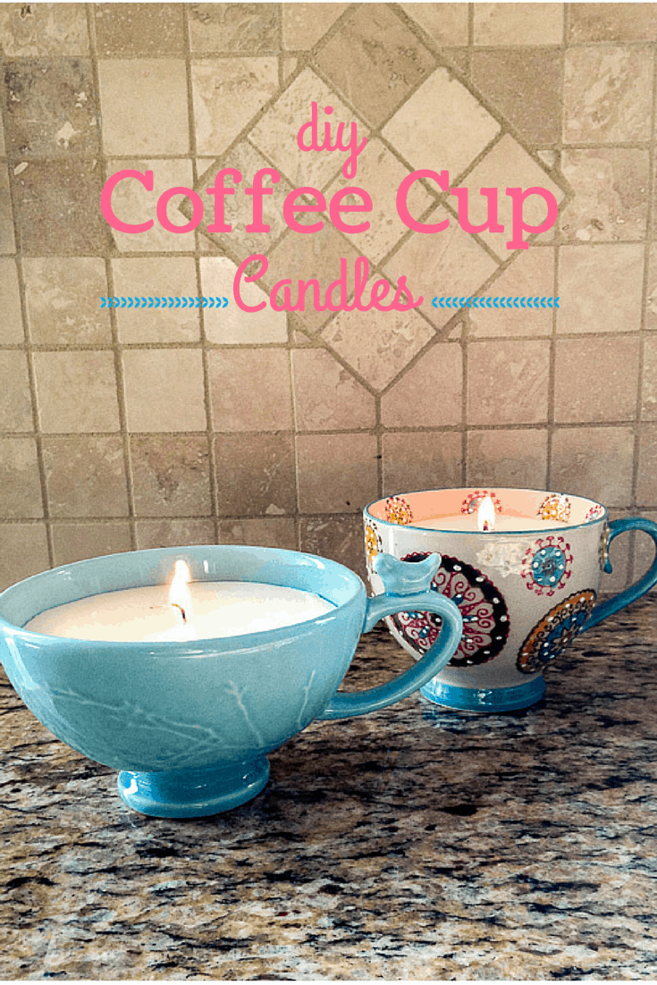 A homemade christmas gift coffee cup candles for Christmas candle gift ideas