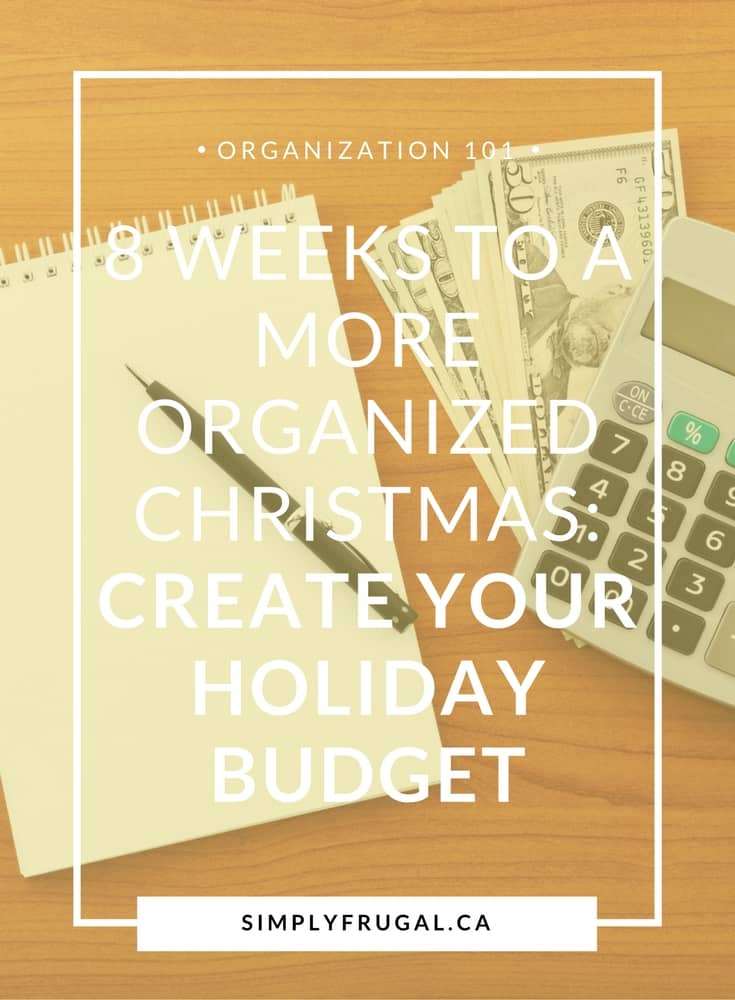How to create your holiday budget.